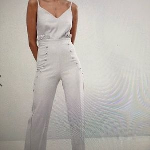 Ruffle and buttons jumpsuit